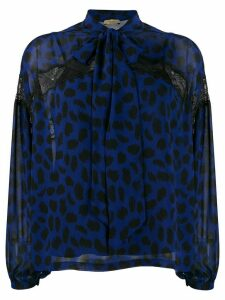 LIU JO sheer lace-detail blouse - Blue