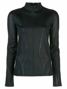 Mugler lycra mock-neck top - Black