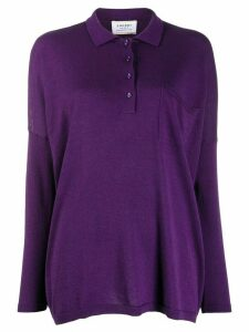 Snobby Sheep. long sleeve polo shirt - PURPLE