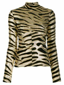 Paco Rabanne slim-fit tiger-print top - GOLD