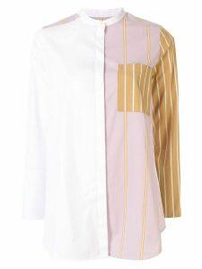 PortsPURE striped colour block shirt - White