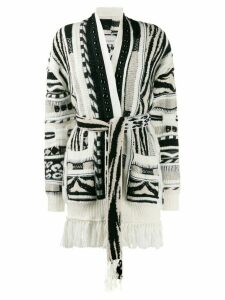 Laneus open front knitted cardigan - NEUTRALS