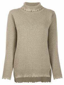 Avant Toi roll neck sweater - NEUTRALS