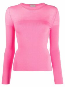 MRZ long-sleeve fine knit jumper - Pink