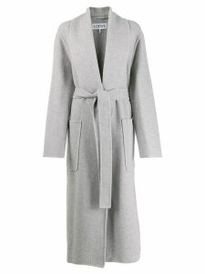 Loewe long belted coat - Grey