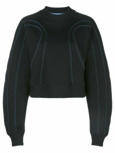 Mugler stitched sculpted sweatshirt - Black