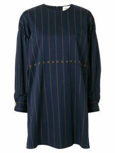 PortsPURE striped shift dress - Blue