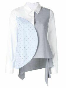 PortsPURE colour block panelled shirt - Multicolour