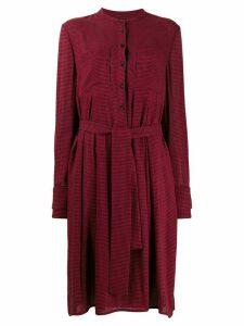 Talbot Runhof belted short dress - Red