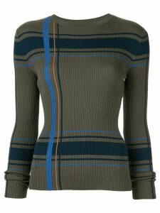 PortsPURE striped ribbed-knit jumper - Green