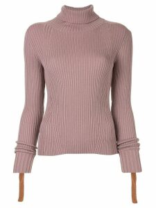 PortsPURE ribbed slim-fit jumper - PURPLE