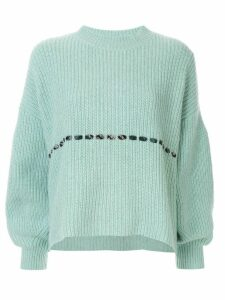PortsPURE checked string detail jumper - Blue