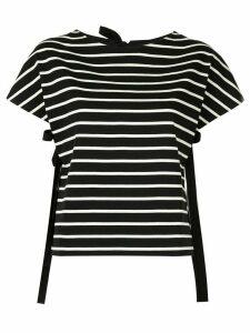 PortsPURE side strap striped T-shirt - Black