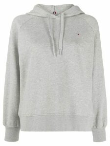 Tommy Hilfiger logo back embroidered hoodie - Grey
