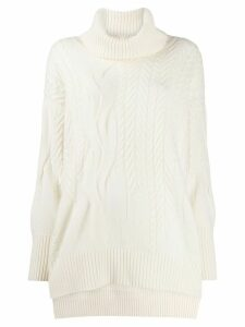N.Peal cashmere cable-knit jumper - Neutrals