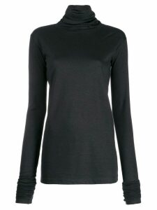 Lemaire extra long sleeve jumper - Black