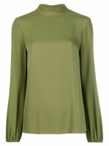 Theory mock neck jersey top - Green