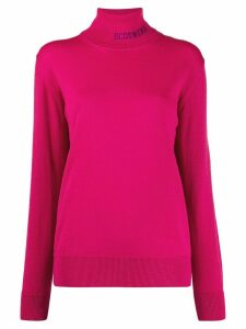 Gcds turtle neck logo jumper - PINK