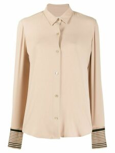Equipment striped cuff shirt - NEUTRALS