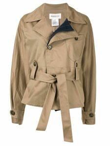 PortsPURE belted oversized jacket - Brown
