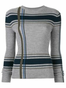 PortsPURE striped slim-fit jumper - Grey