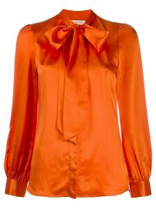 Tory Burch long-sleeved bow blouse - Orange