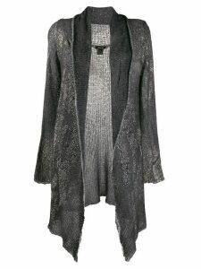 Avant Toi asymmetric draped cardigan - Grey