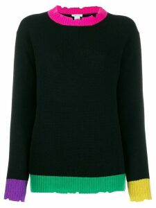 Avant Toi colour block sweater - Black