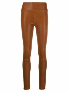 Sprwmn high-waisted pull-on skinny trousers - Brown