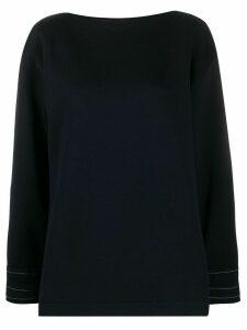 Marni exposed stitch sweatshirt - Blue
