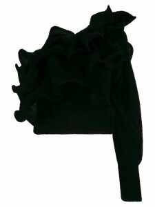Laneus ruffled one shoulder jumper - Black
