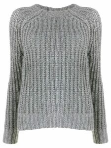 Forte Forte cable-knit fitted sweater - SILVER