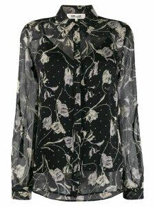 Diane von Furstenberg Lorelei chiffon shirt - Black