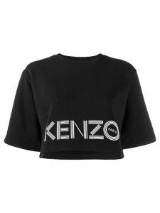 Kenzo cropped printed logo sweatshirt - Black