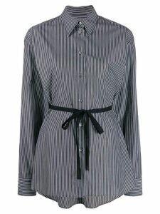 Mm6 Maison Margiela tie waist striped shirt - Black