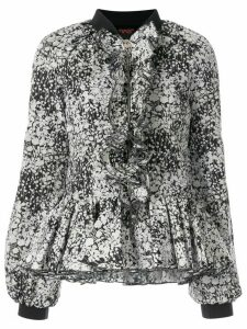 Giambattista Valli floral zipped blouse - Black