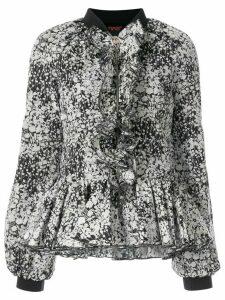 Giambattista Valli floral zipped blouse - Black