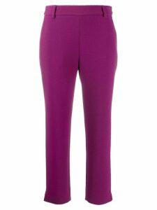Just Cavalli Elegant cropped trousers - Purple