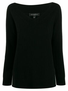 Antonelli V neck jumper - Black