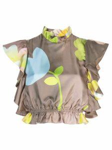 Cynthia Rowley ashley pop floral top - Brown