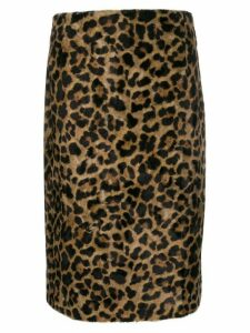 Rokh faux fur skirt - Brown