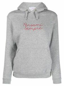 Giada Benincasa 'Pensami Sempre' embroidered hoodie - Grey