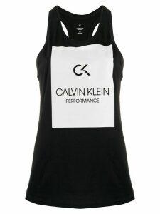 Calvin Klein logo patch tank top - Black