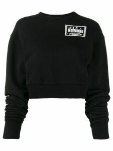 Fiorucci graphic print cropped sweatshirt - Black