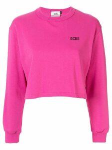 Gcds cropped sweatshirt - Pink