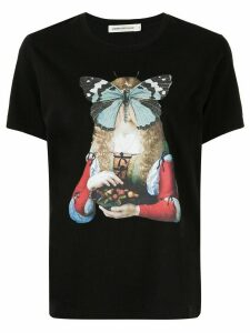 Undercover butterfly-print T-shirt - Black