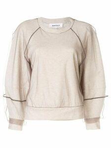 Enföld tulle overlay sweatshirt - Black