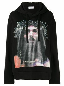 Ih Nom Uh Nit Jesus print hoodie - Black