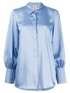 L'Autre Chose billowing-sleeves shirt - Blue