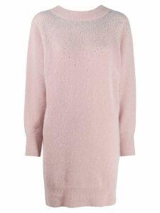 Blumarine knitted jumper dress - PINK